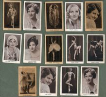 Movie stars tobacco cigarette cards collection film stars RARE ***  #558